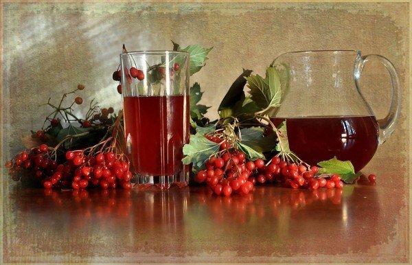 Сок ягод калины