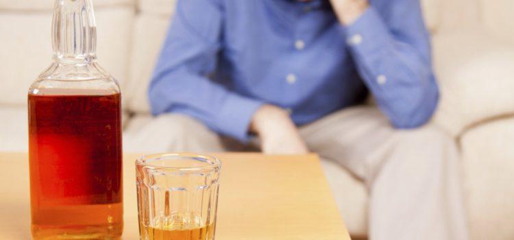 Алкоголь и на заднем плане мужчина