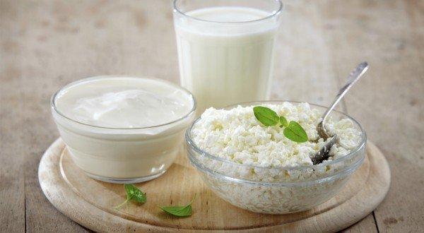 Молоко, творог и сметана