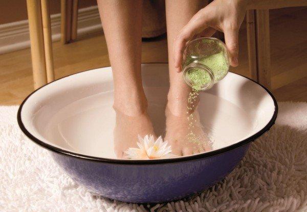 ванночка для ног с солью
