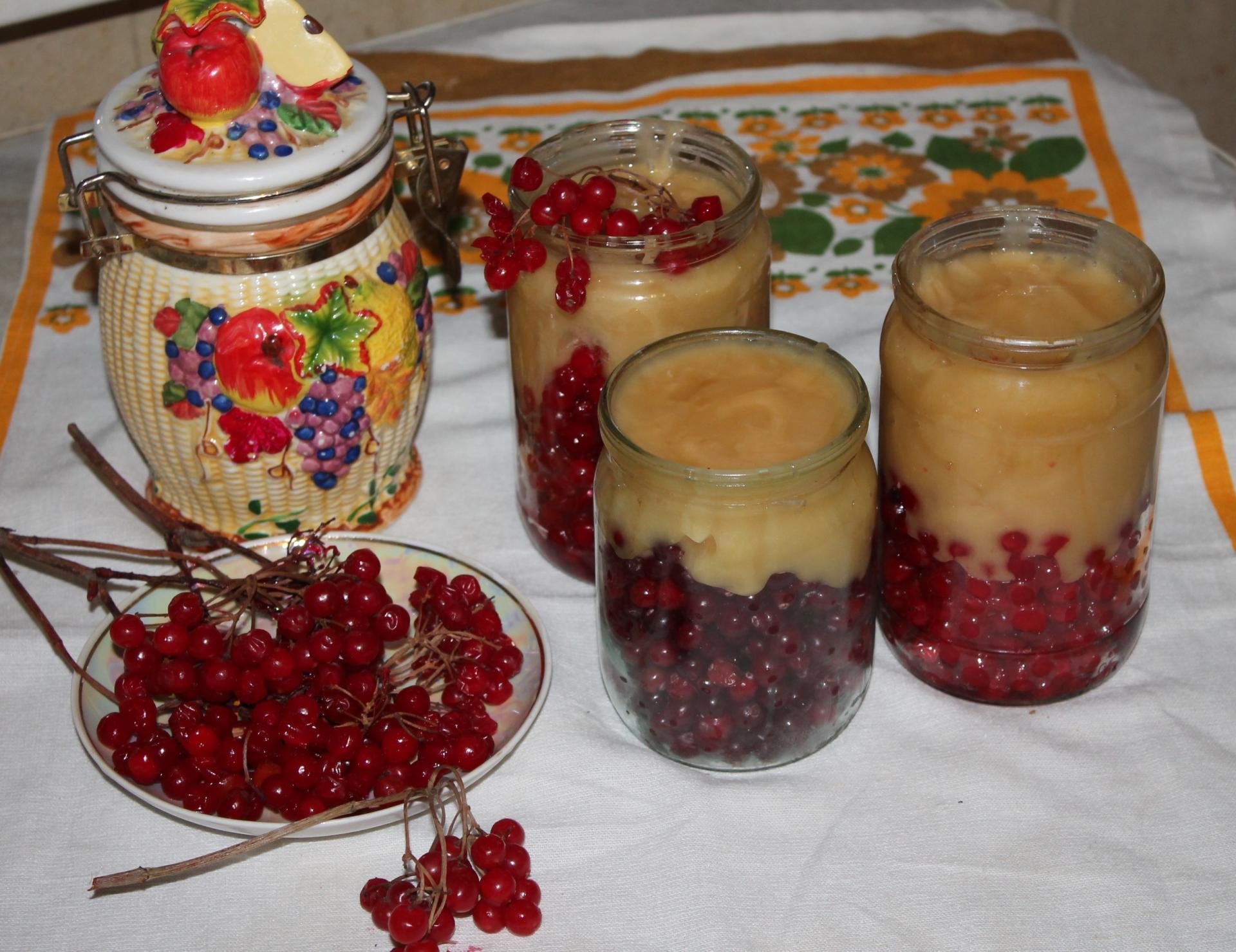 Калина с мёдом: заготовки