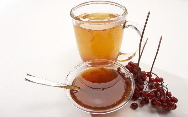 Напиток из калины и мёда