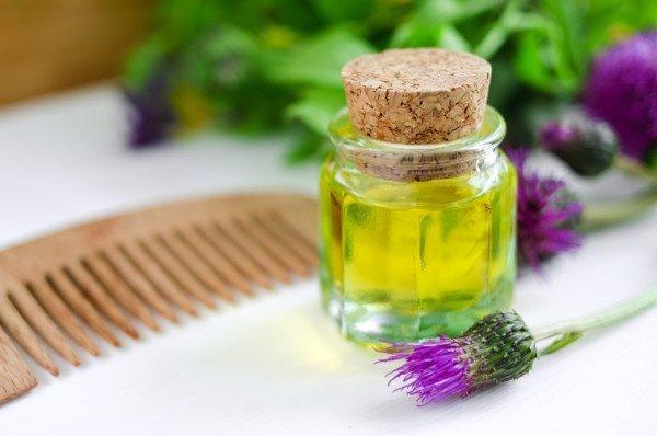 Репейное масло, приготовленное в домашних условиях