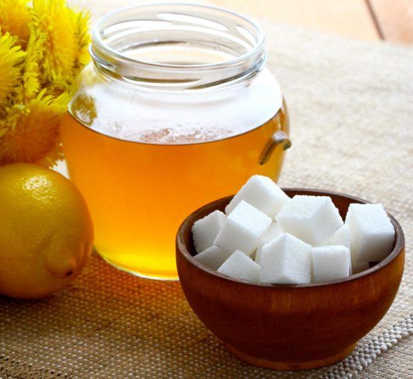 Мёд, сахар и лимон