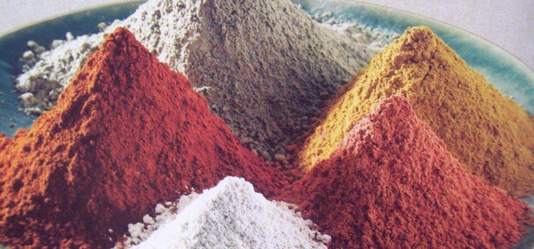 Различные виды косметической глины