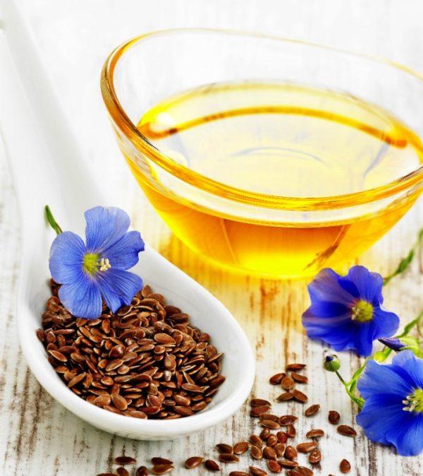Масло и цветы льна