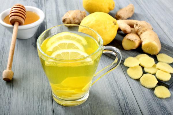 Рецепт чая с лимоном, имбирём и мёдом
