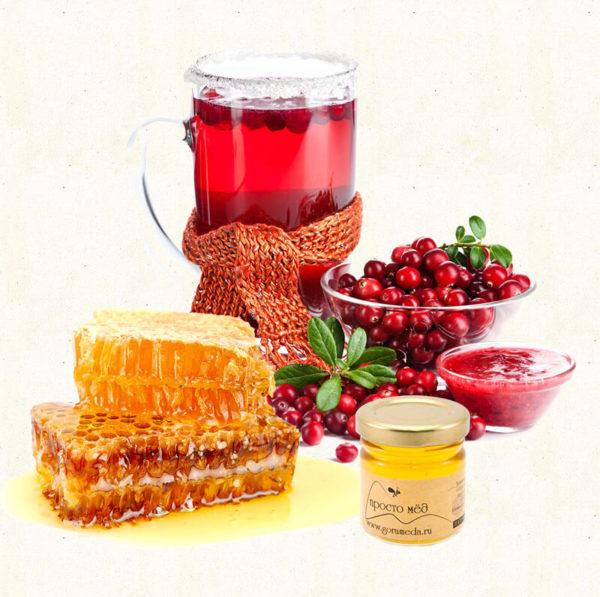 Мёд с клюквой