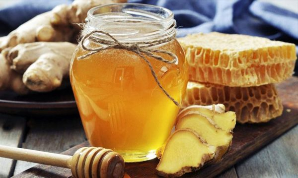 Мед с лимоном и имбирём