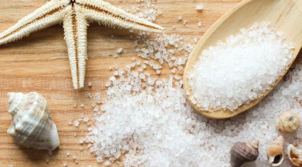 Морская соль и ракушки