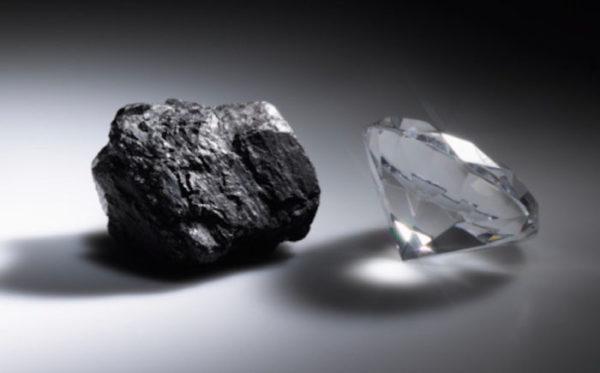 Уголь и алмаз
