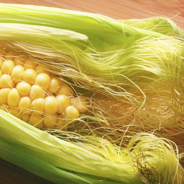 Початок кукурузы со светлыми рыльцами