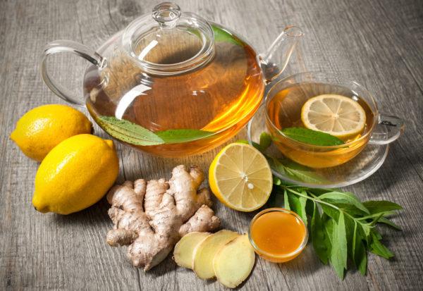 Имбирь, лимон, мёд и напиток из них