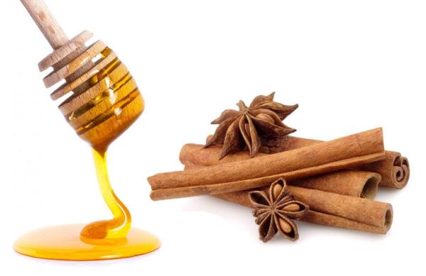 Мёд и палочки корицы