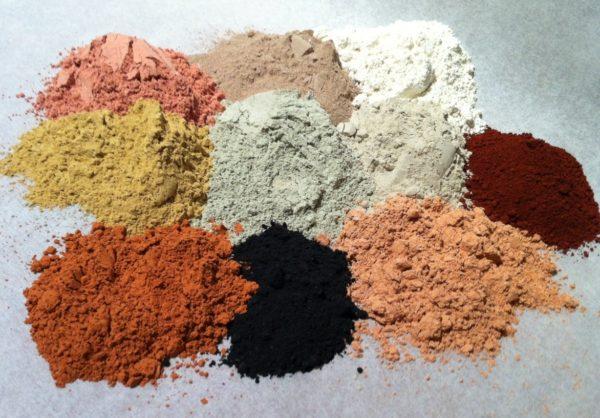 Разноцветные глины