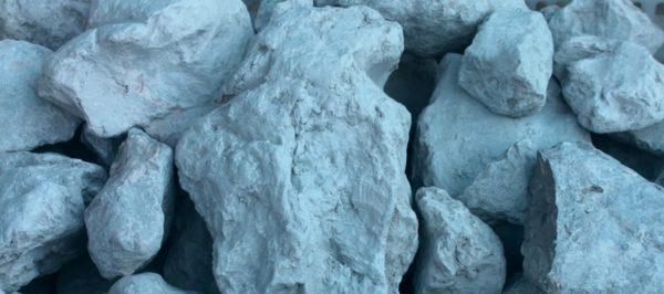 Синяя глина в окаменевшем состоянии