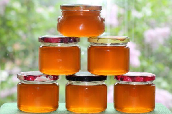 Мёд из сосновых шишек в банках