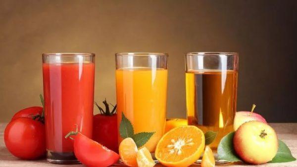 Соки, овощи и фрукты