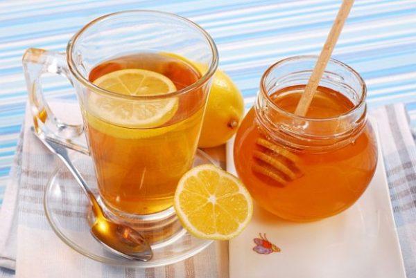 Чай с лимоном и мёд
