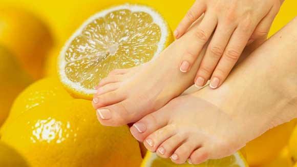 Лимонная корочка от трещин на пятках