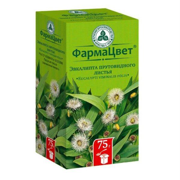 Аптечная упаковка с сухими листьями эвкалипта