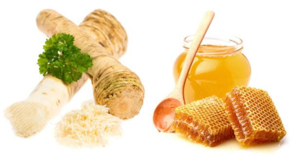Корень хрена и мёд