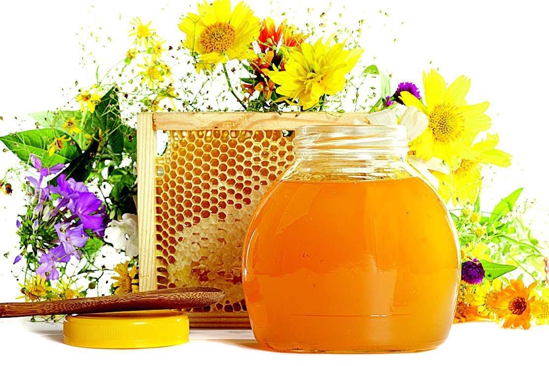 Мед и маки картинка