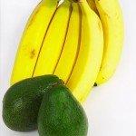 Бананы и авокадо